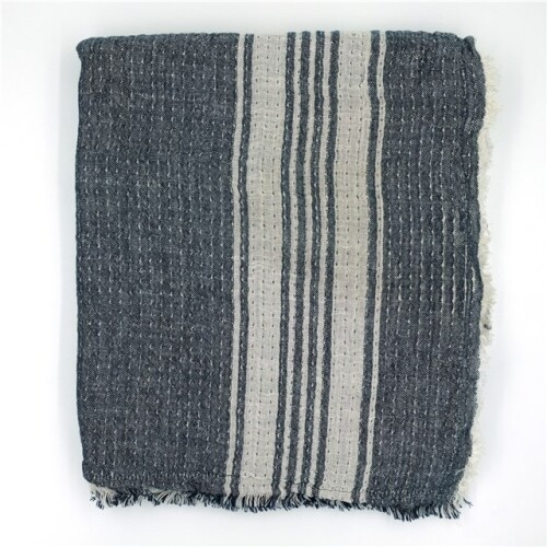 SAPHIRE STRIPE THROW