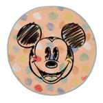 DOTS MICKEY RUG W/ ANTI SLIP